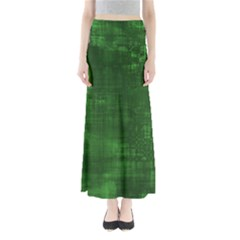 Green Grunge Full Length Maxi Skirt