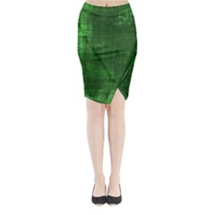 Green Grunge Midi Wrap Pencil Skirt by retrotoomoderndesigns