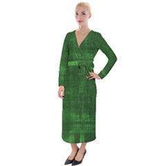 Green Grunge Velvet Maxi Wrap Dress by retrotoomoderndesigns
