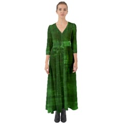 Green Grunge Button Up Boho Maxi Dress by retrotoomoderndesigns