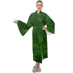 Green Grunge Maxi Velour Kimono by retrotoomoderndesigns