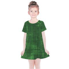 Green Grunge Kids  Simple Cotton Dress by retrotoomoderndesigns