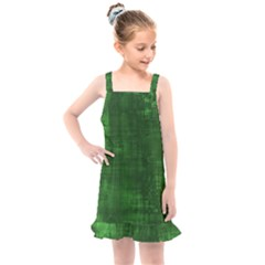 Green Grunge Kids  Overall Dress by retrotoomoderndesigns