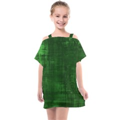 Green Grunge Kids  One Piece Chiffon Dress by retrotoomoderndesigns