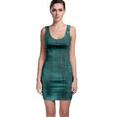 Turquoise Green Grunge Bodycon Dress by retrotoomoderndesigns
