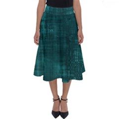 Turquoise Green Grunge Perfect Length Midi Skirt by retrotoomoderndesigns
