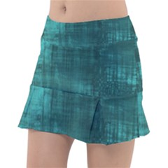 Turquoise Green Grunge Tennis Skirt