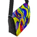 Yellow triangles abstract Flap Closure Messenger Bag (S) View2