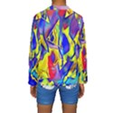 Yellow triangles abstract Kids  Long Sleeve Swimwear View2