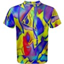 Yellow triangles abstract Men s Cotton Tee View1