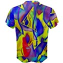Yellow triangles abstract Men s Cotton Tee View2