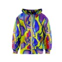 Yellow triangles abstract Kids  Zipper Hoodie View1
