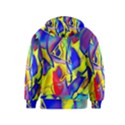 Yellow triangles abstract Kids  Zipper Hoodie View2