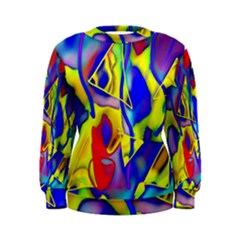 Yellow Triangles Abstract Women s Sweatshirt by bloomingvinedesign