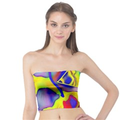 Yellow Triangles Abstract Tube Top