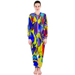 Yellow Triangles Abstract Onepiece Jumpsuit (ladies)