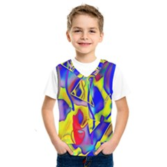 Yellow Triangles Abstract Kids  Sportswear by bloomingvinedesign