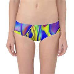 Yellow Triangles Abstract Classic Bikini Bottoms by bloomingvinedesign