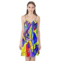 Yellow Triangles Abstract Camis Nightgown