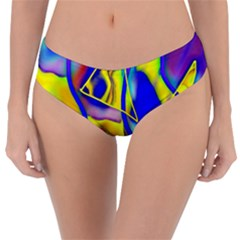Yellow Triangles Abstract Reversible Classic Bikini Bottoms by bloomingvinedesign