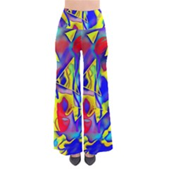 Yellow Triangles Abstract So Vintage Palazzo Pants