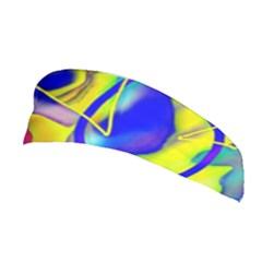 Yellow Triangles Abstract Stretchable Headband
