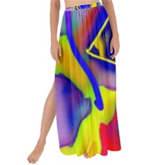 Yellow Triangles Abstract Maxi Chiffon Tie-up Sarong by bloomingvinedesign