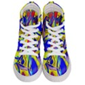 Yellow triangles abstract Women s Hi-Top Skate Sneakers View1