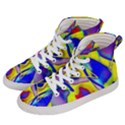 Yellow triangles abstract Women s Hi-Top Skate Sneakers View2