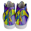 Yellow triangles abstract Women s Hi-Top Skate Sneakers View4