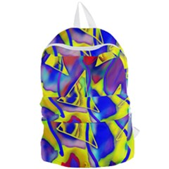 Yellow Triangles Abstract Foldable Lightweight Backpack by bloomingvinedesign