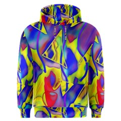 Yellow Triangles Abstract Men s Overhead Hoodie