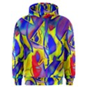 Yellow triangles abstract Men s Overhead Hoodie View1