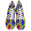 Yellow triangles abstract Men s Lightweight High Top Sneakers View1