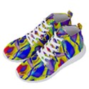 Yellow triangles abstract Men s Lightweight High Top Sneakers View2