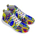 Yellow triangles abstract Men s Lightweight High Top Sneakers View3