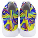 Yellow triangles abstract Men s Lightweight High Top Sneakers View4