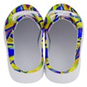 Yellow triangles abstract Half Slippers View4