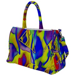 Yellow Triangles Abstract Duffel Travel Bag