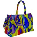 Yellow triangles abstract Duffel Travel Bag View2