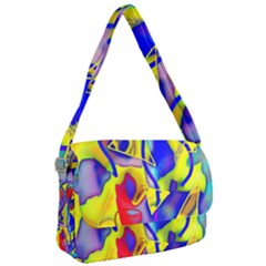 Yellow Triangles Abstract Courier Bag