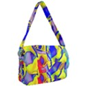 Yellow triangles abstract Courier Bag View1