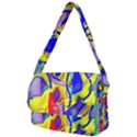 Yellow triangles abstract Courier Bag View2
