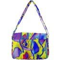 Yellow triangles abstract Courier Bag View3
