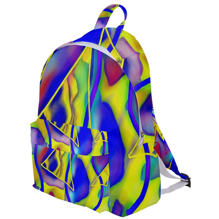 Yellow triangles abstract The Plain Backpack