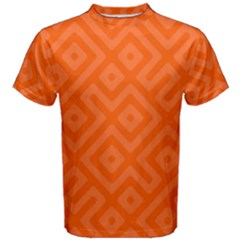 Orange Maze Men s Cotton Tee