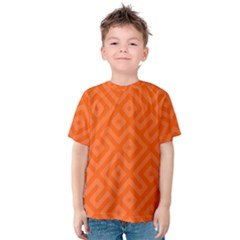 Orange Maze Kids  Cotton Tee
