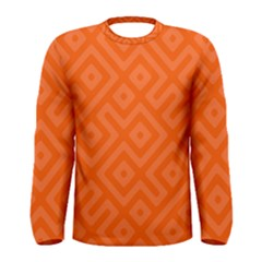 Orange Maze Men s Long Sleeve Tee