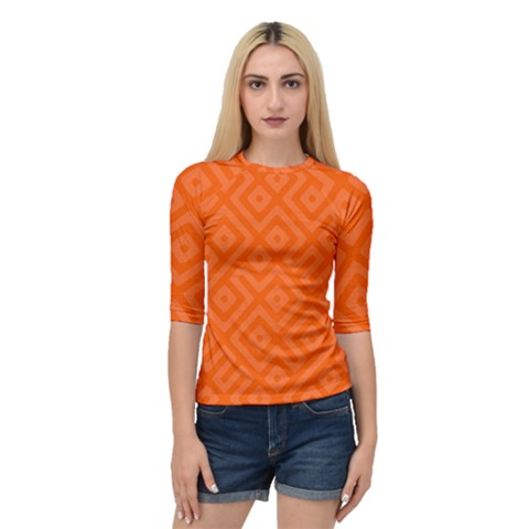 Orange Maze Quarter Sleeve Raglan Tee by retrotoomoderndesigns