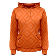 Orange Maze Women s Pullover Hoodie